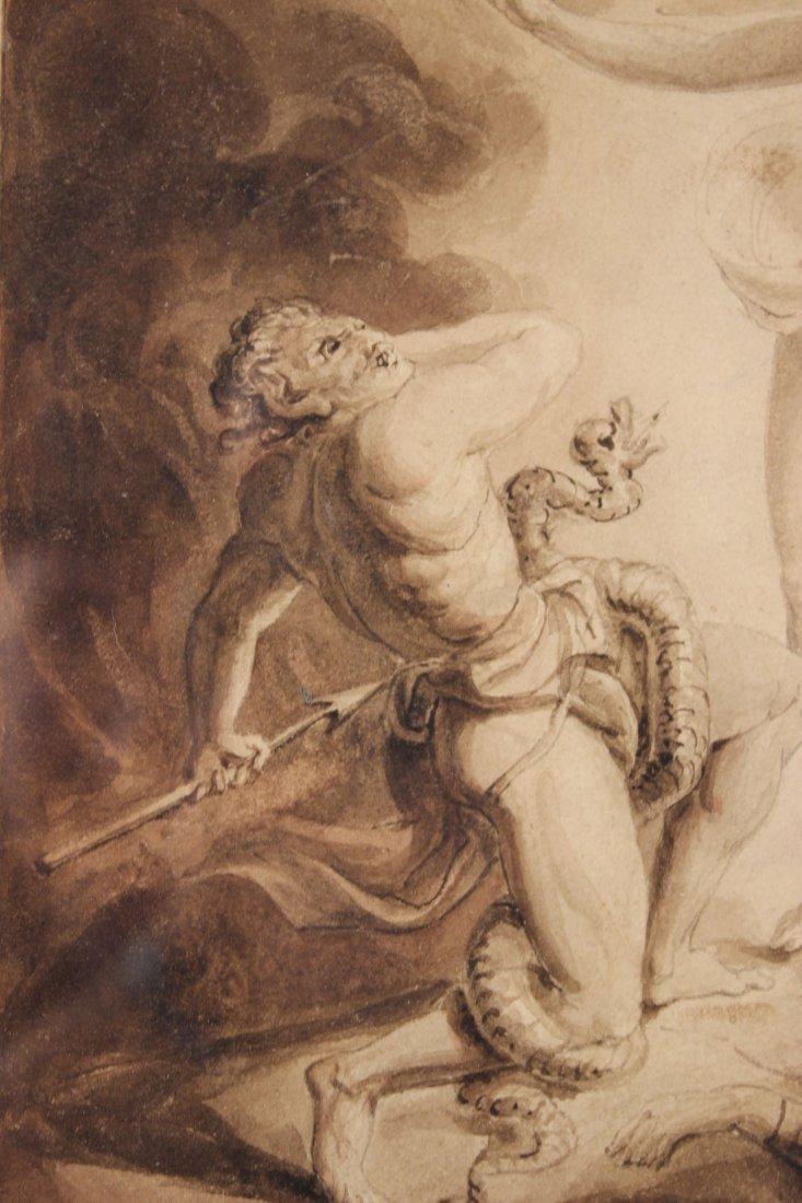 Pen and Ink, Archangel Michael, William Blake - 4