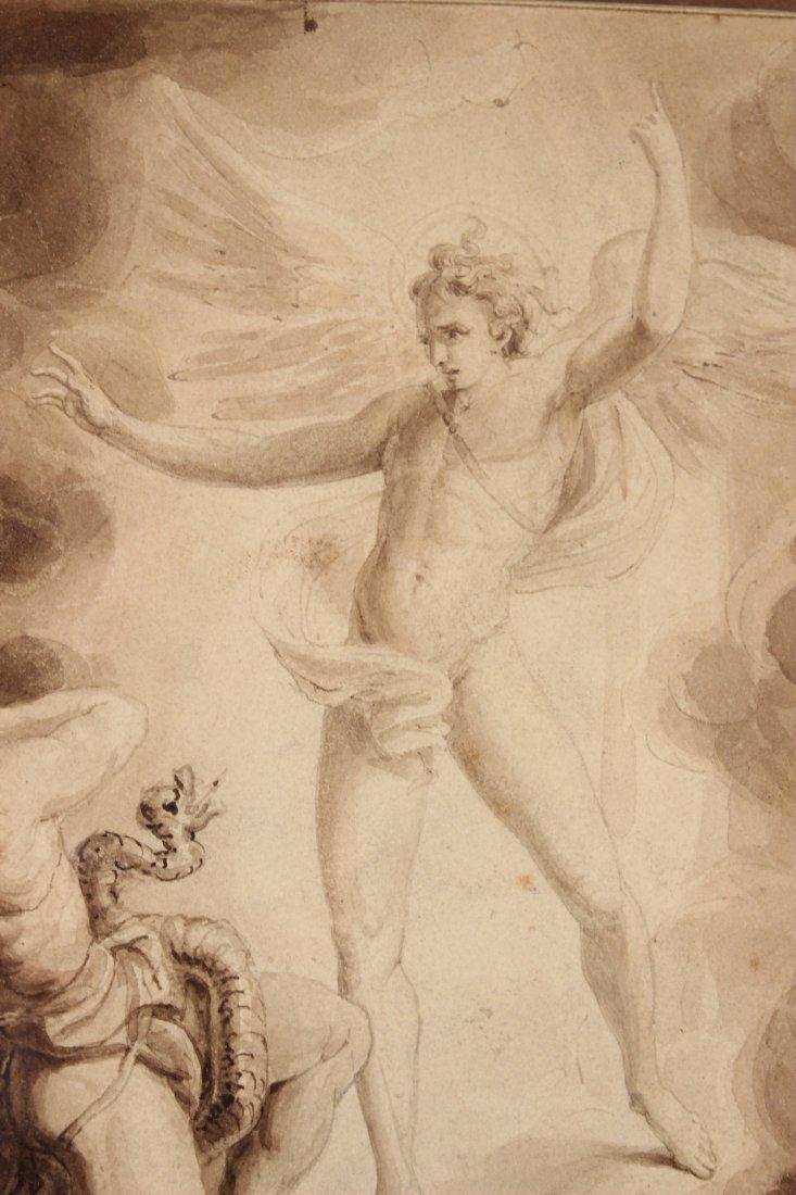 Pen and Ink, Archangel Michael, William Blake - 5