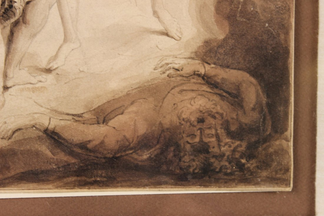 Pen and Ink, Archangel Michael, William Blake - 6