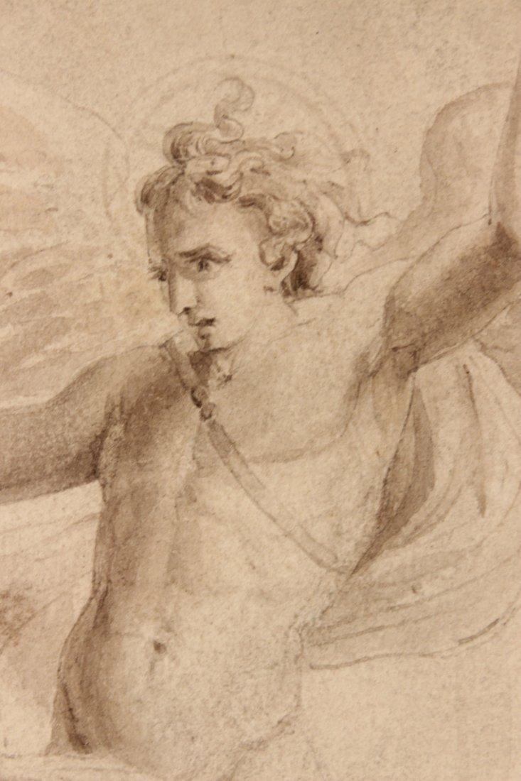 Pen and Ink, Archangel Michael, William Blake - 7