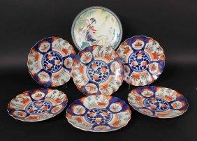 Six Imari Porcelain Plates