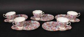 "Twelve Royal Albert ""chintz"" Plates & Eleven Cups"