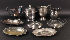 Three Silver Plated Water Pitchers