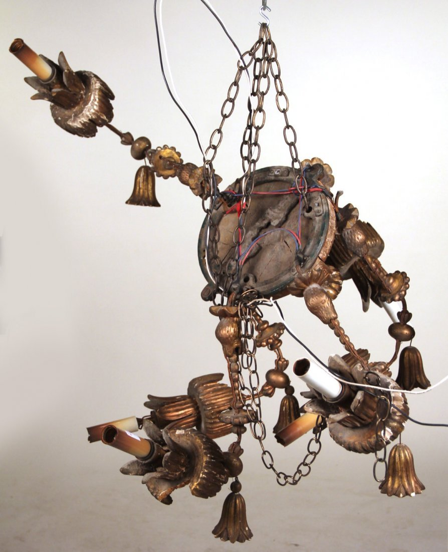 Baroque Style Giltwood Chandelier