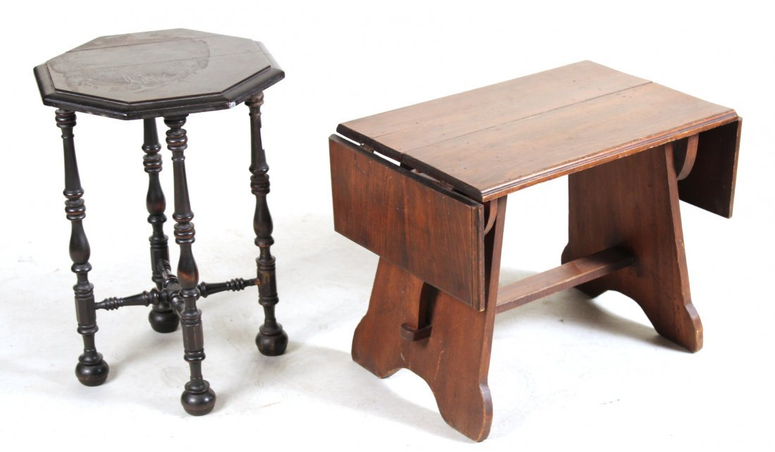 Jacobean Style Mahogany Side Table