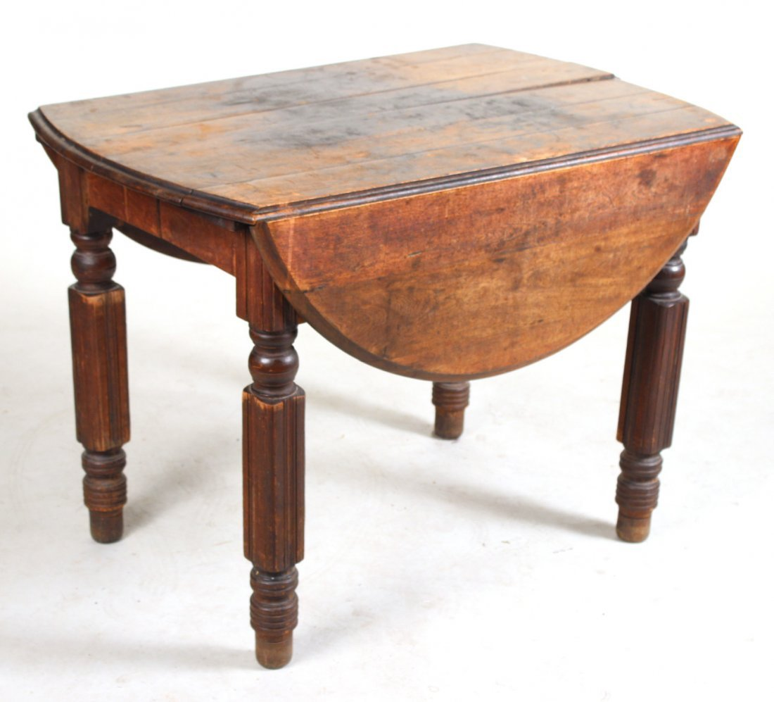 Stained Pine Drop Leaf Dining Table
