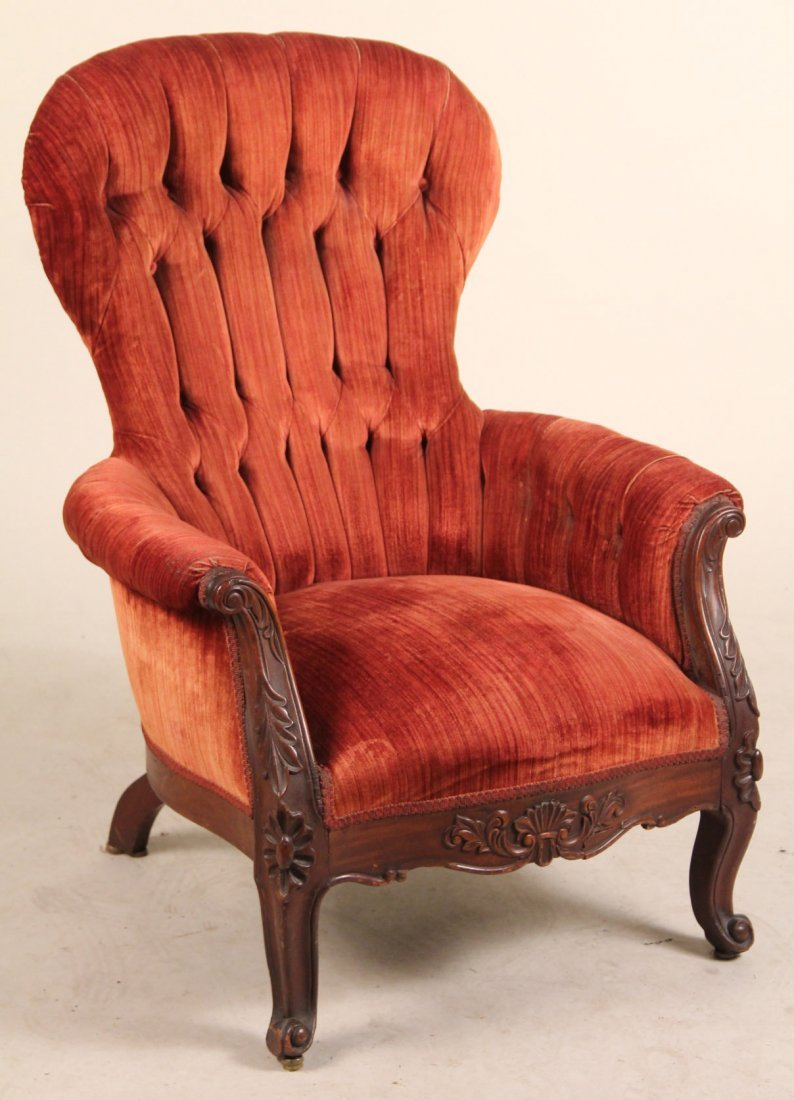 Victorian Walnut Parlor Chair