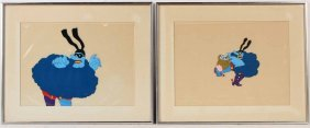 Two Yellow Submarine Animation Cels