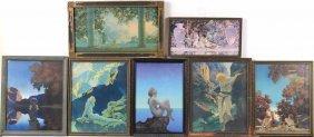 Seven Framed Maxwell Parrish Prints