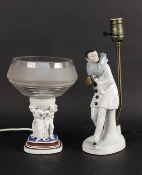 Porcelain Jester Figure