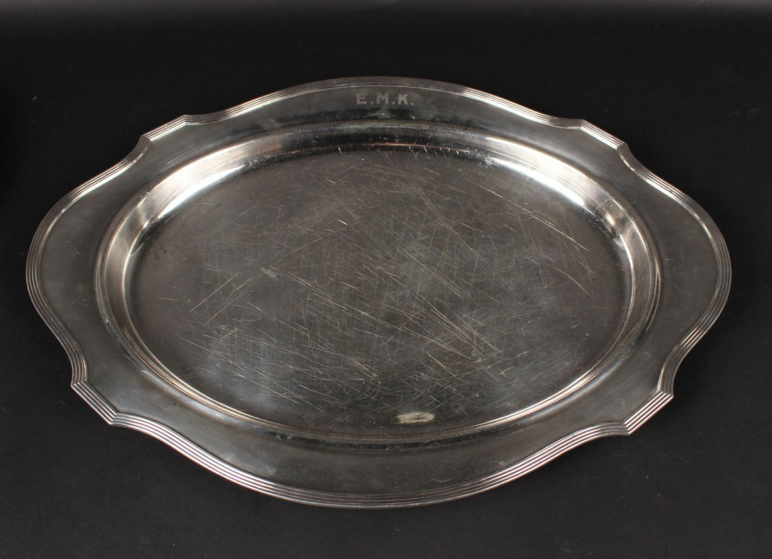 Gorham Sterling Silver Shaped Oval Tea Tray