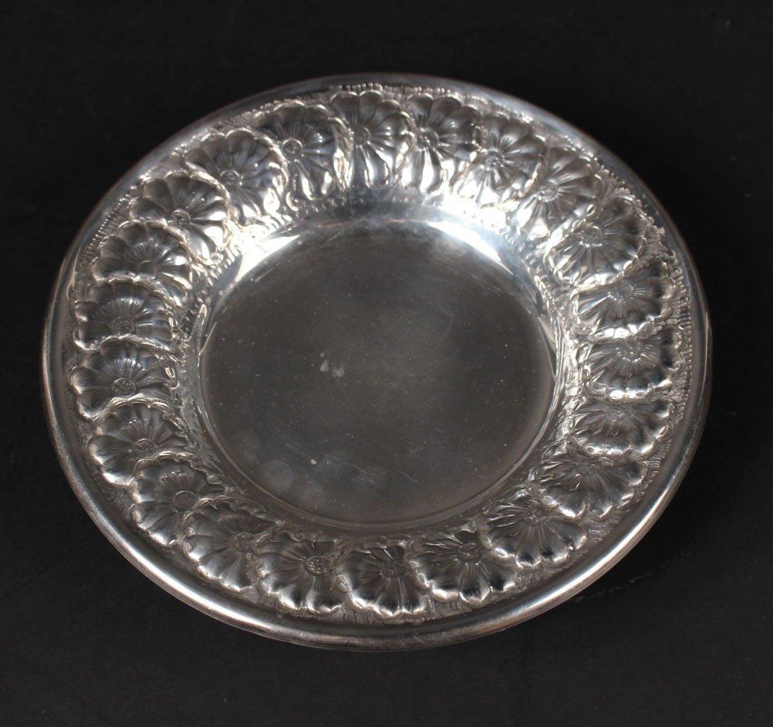 900 Silver Circular Footed Bowl
