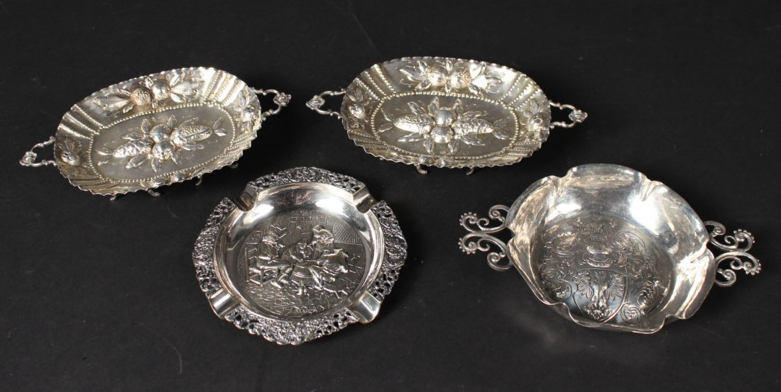 Four Continental Silver Table Items
