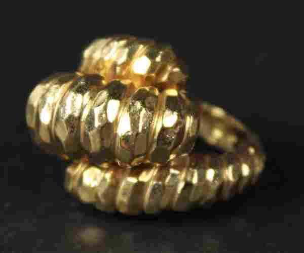 Henry Dunay 18K Yellow Gold Rope Form Ring
