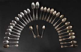 American Sterling Silver Set of Spoons