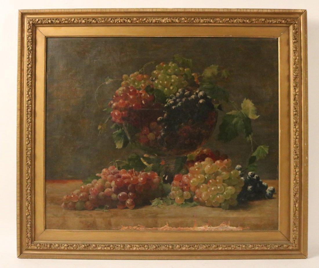 Oil on Canvas, Grapes, William Joseph McCloskey