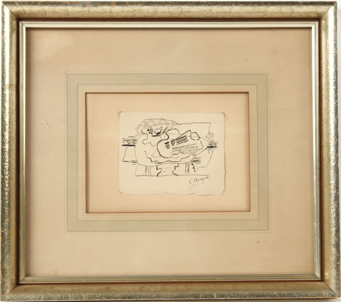 Pen and Ink, Abstract Still Life, Georges Braque