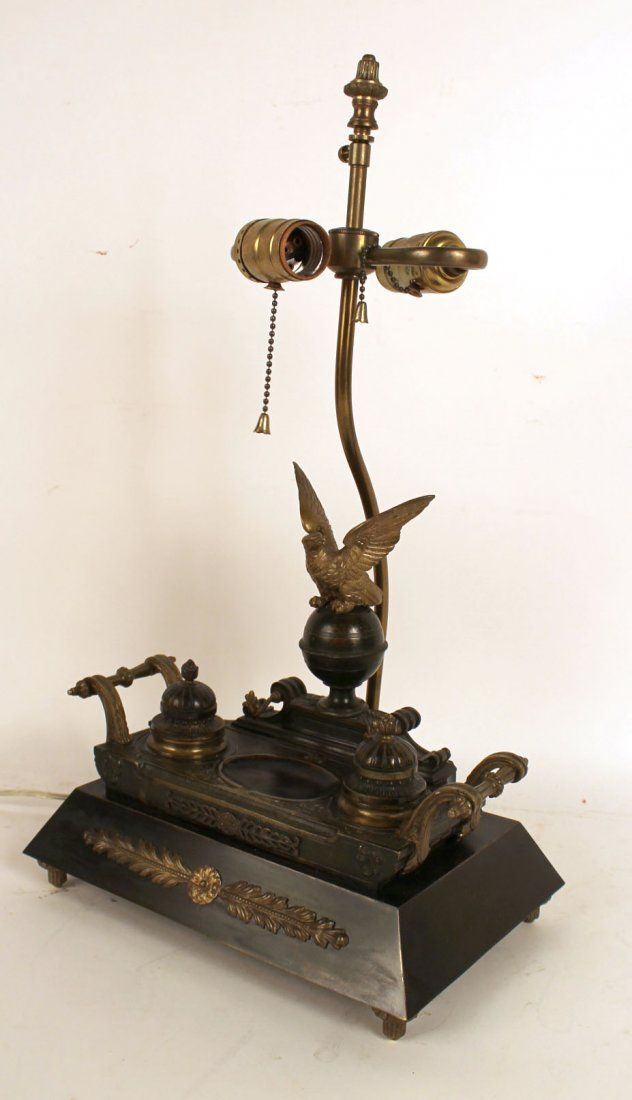French Empire Style Gilded Bronze Inkstand