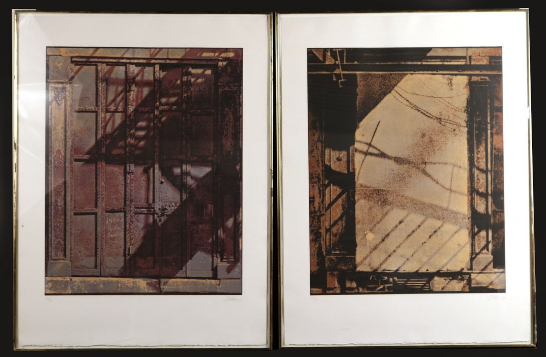 "Two Aquatints, ""Catfish Row,"" Gerd Winner"