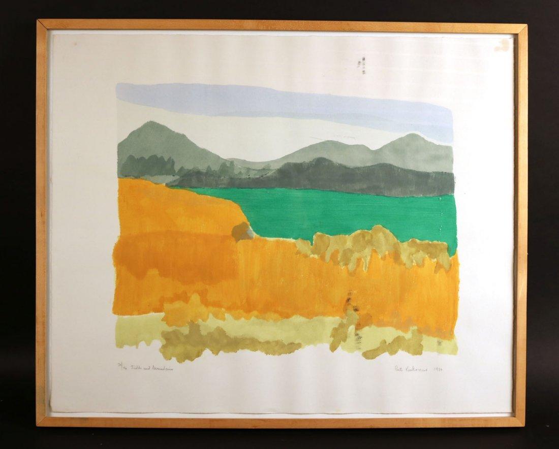 "Pochoir, ""Fields and Mountains,"" Ruth Kerkovius"
