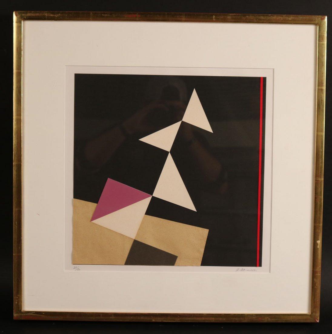 Collage, Shapes on Black Paper, Adone Asinari