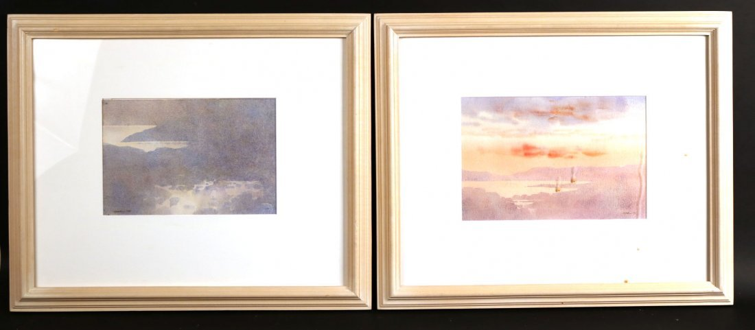 Two Watercolor Landscapes, Donald Holden