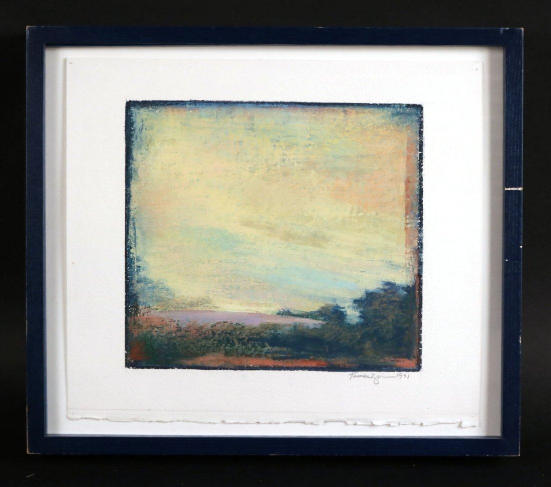 Oil Pastel on Paper, Landscape Tamar Zinn