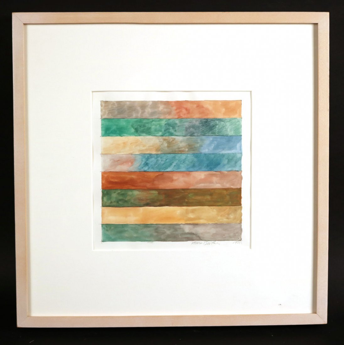 Watercolor, Multicolored Stripes, Power Boothe