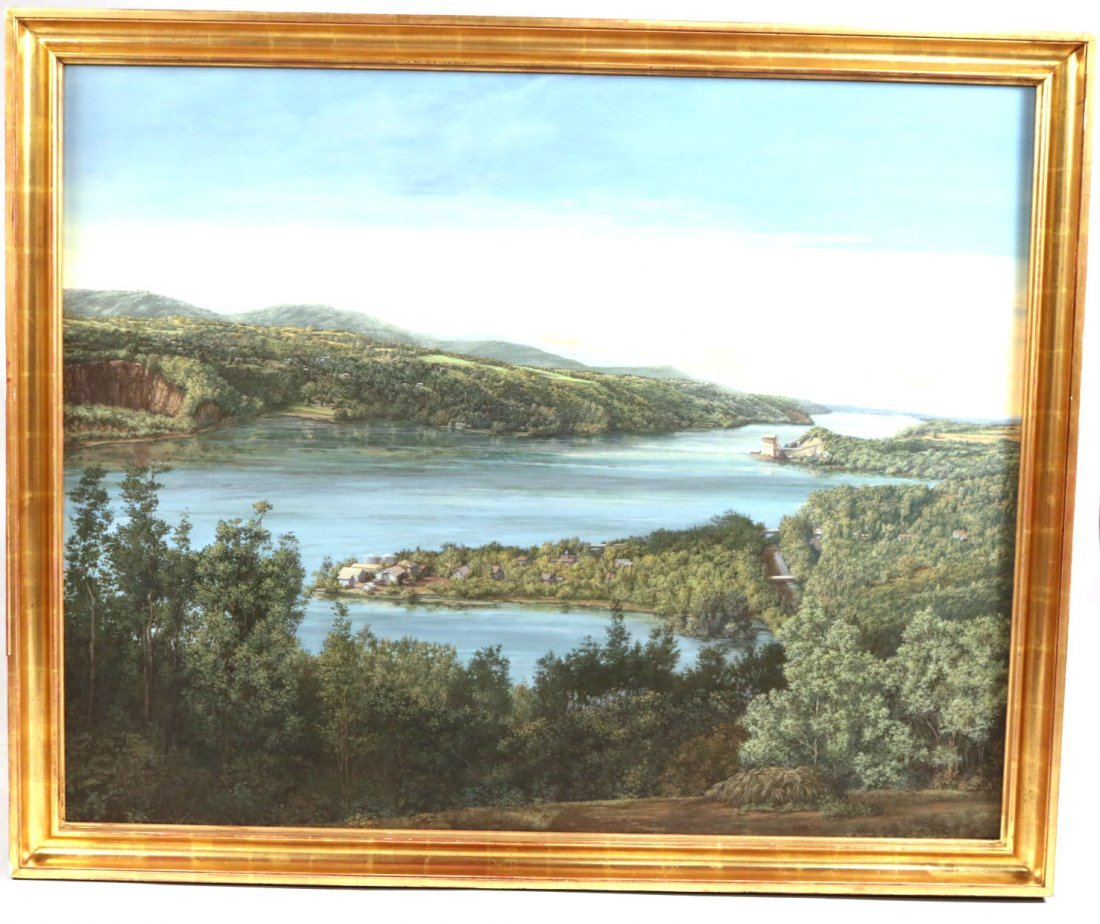 Oil on Canvas, Riverscape, George Wexler