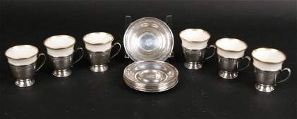 Whiting Sterling Silver Demitasse Cup Holders
