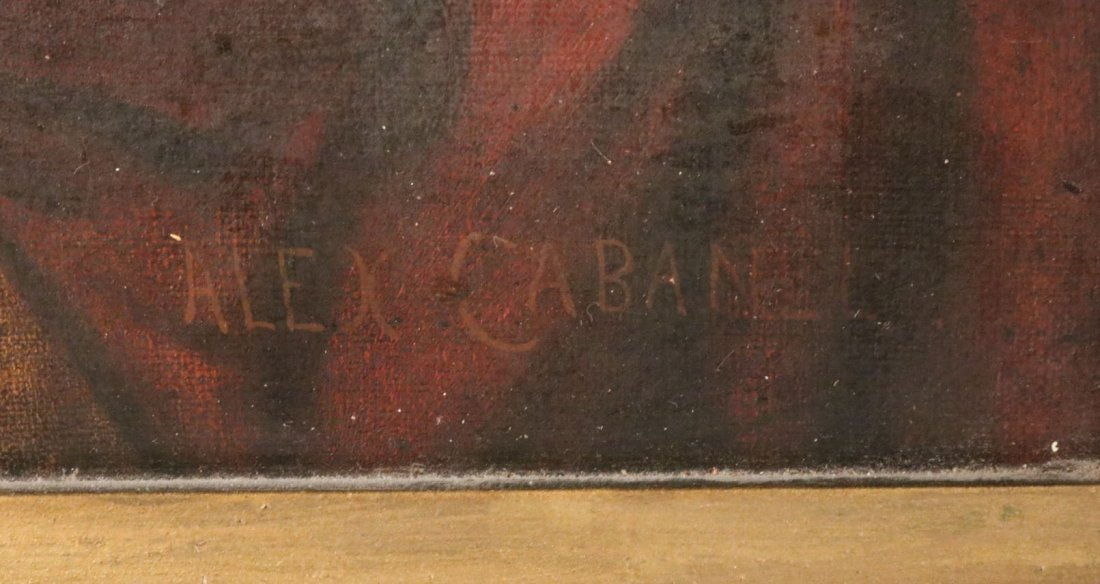 Oil on Canvas, Five Figures, Alexandre Cabanel - 5