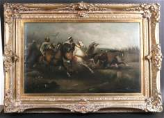 Oil on Canvas, Arabs on Horseback, Dubois