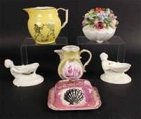 Two Royal Worcester Porcelain Figural Nut Dishes