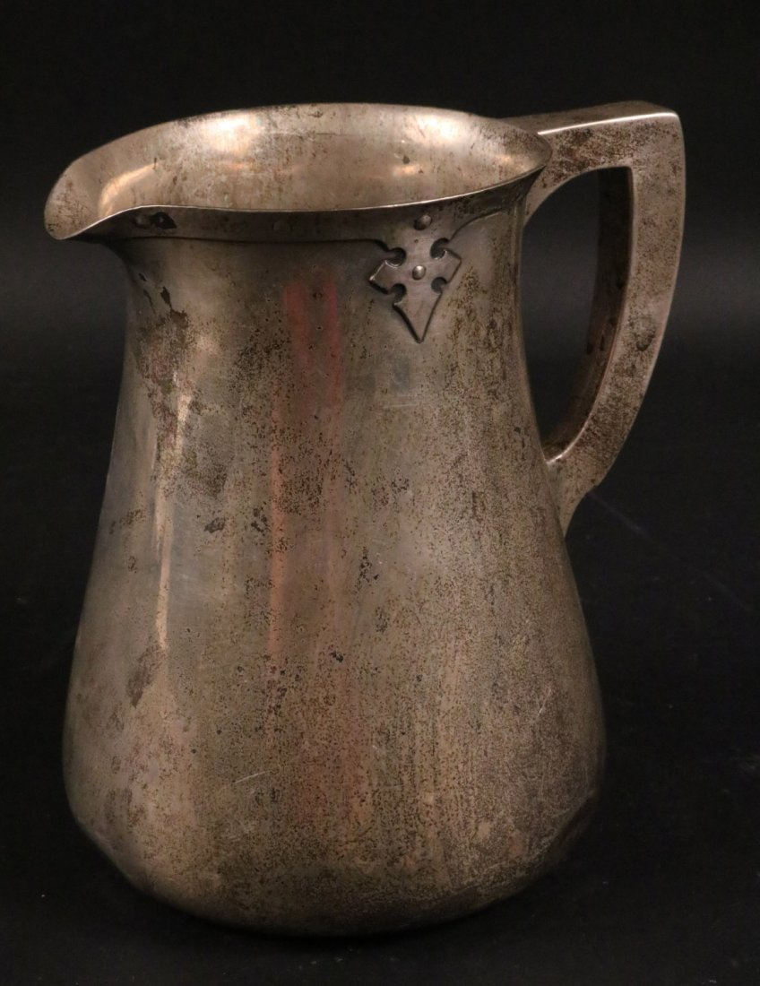 Arts & Crafts Sterling Silver Water Pitcher