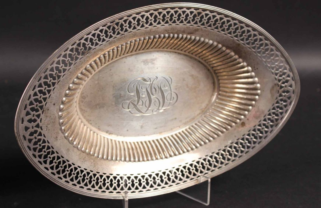 Two Sterling Silver Oval Bread Trays - 2