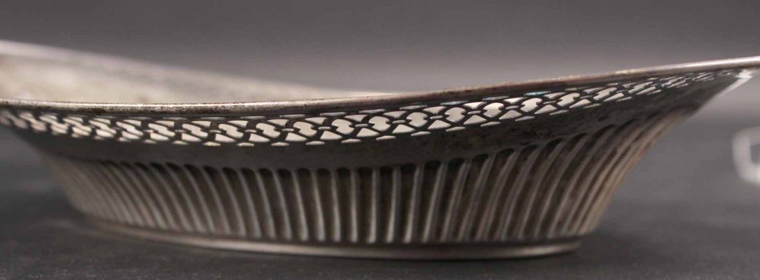 Two Sterling Silver Oval Bread Trays - 3