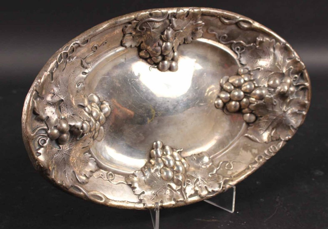 Two Sterling Silver Oval Bread Trays - 5