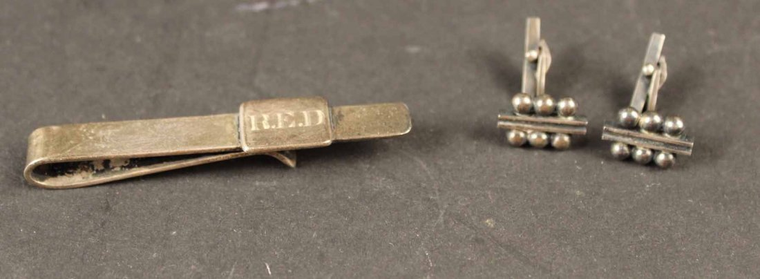 Pair of Georg Jensen Sterling Silver Cuff Links