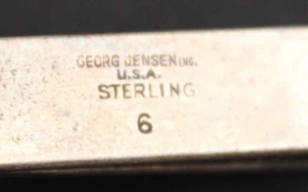 Pair of Georg Jensen Sterling Silver Cuff Links - 3