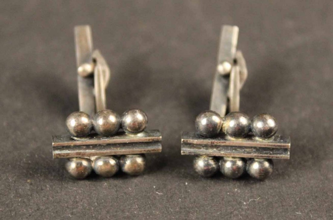 Pair of Georg Jensen Sterling Silver Cuff Links - 5