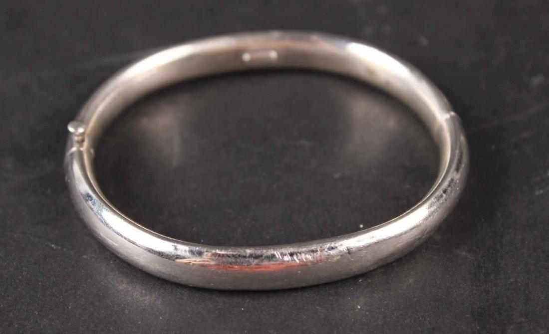 Four Sterling Silver Bangle Bracelets - 2