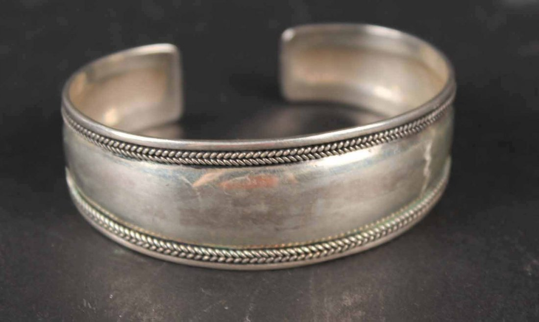 Four Sterling Silver Bangle Bracelets - 3
