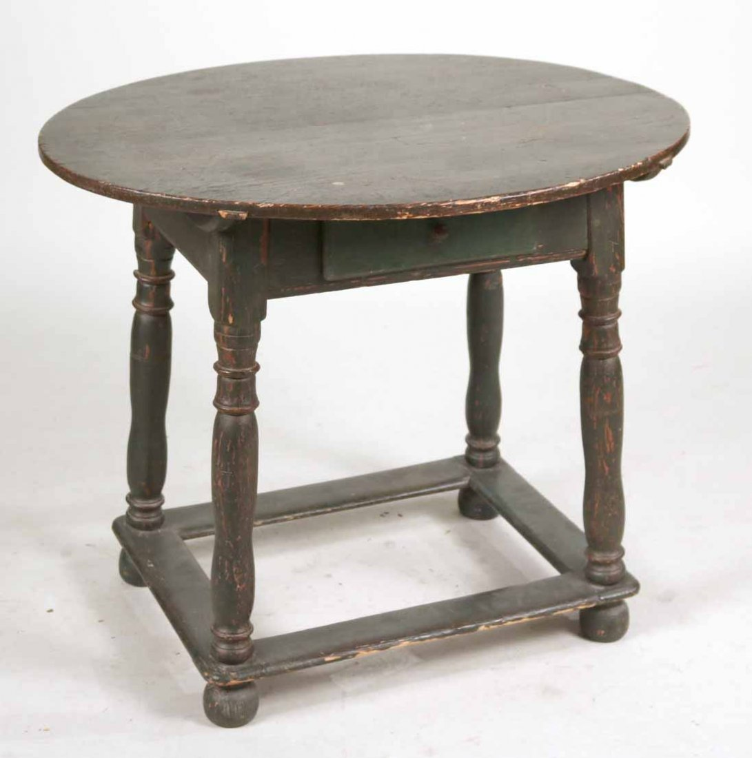 Federal Green-Painted Oval Tavern Table