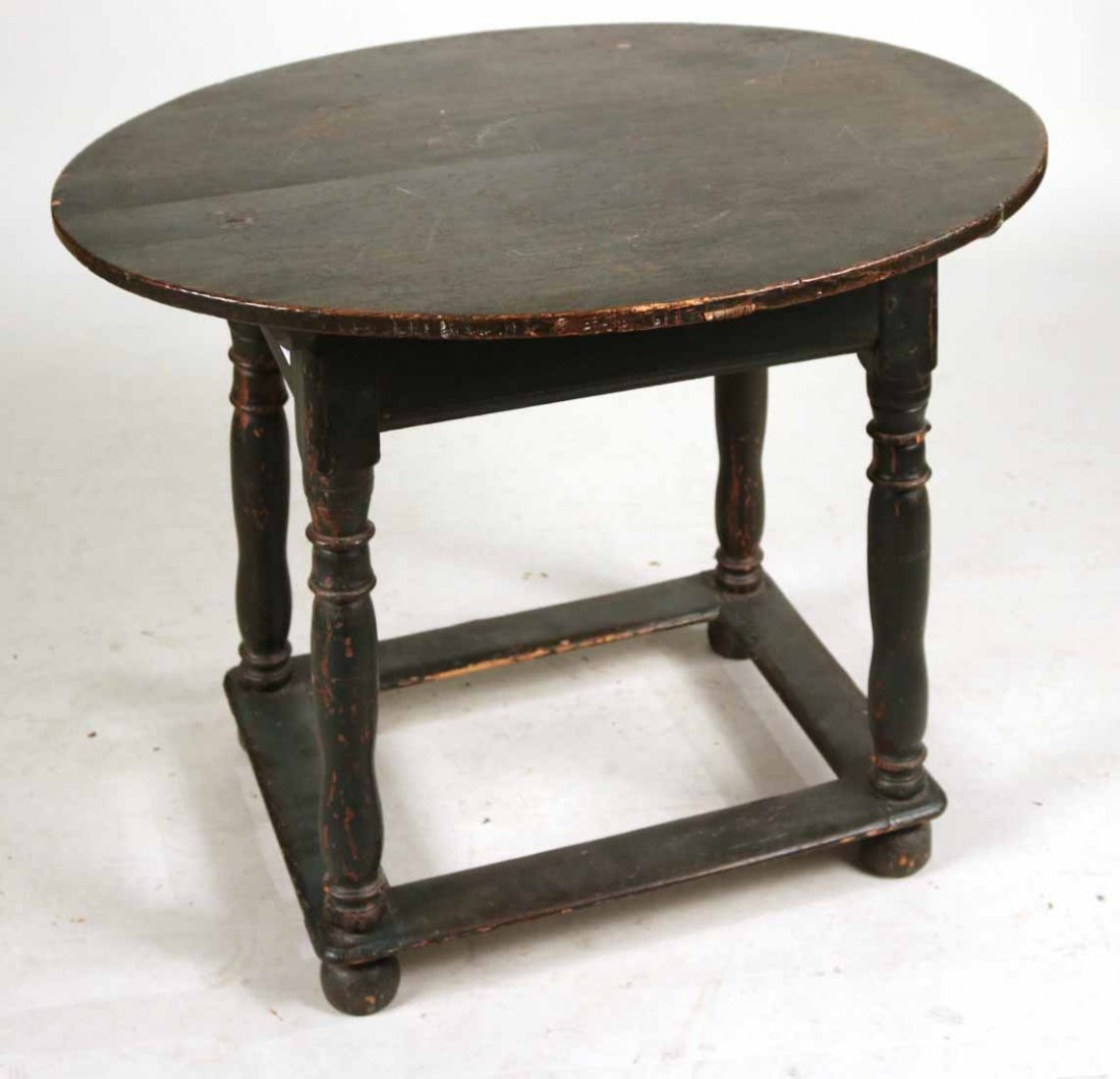 Federal Green-Painted Oval Tavern Table - 5