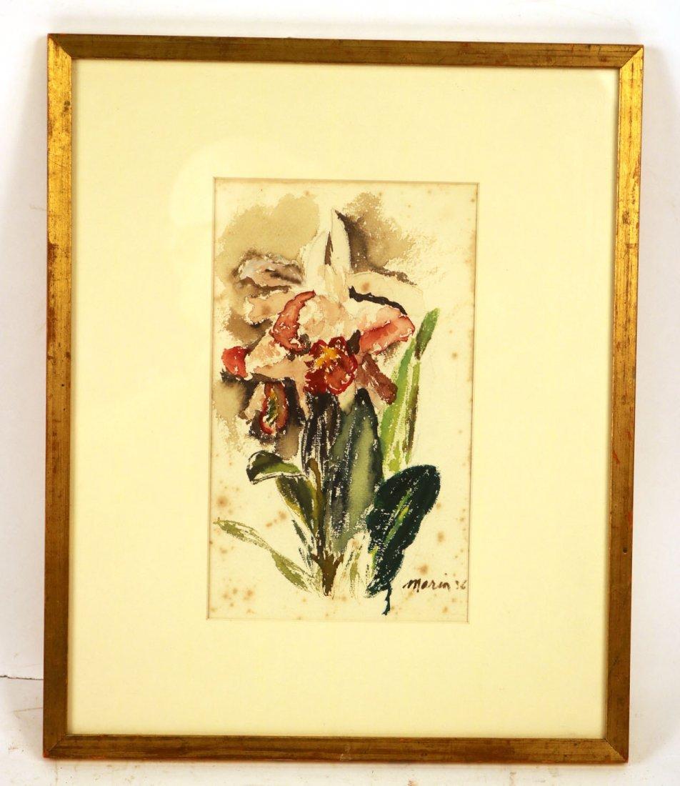 Watercolor on Paper, Floral Scene, John Marin
