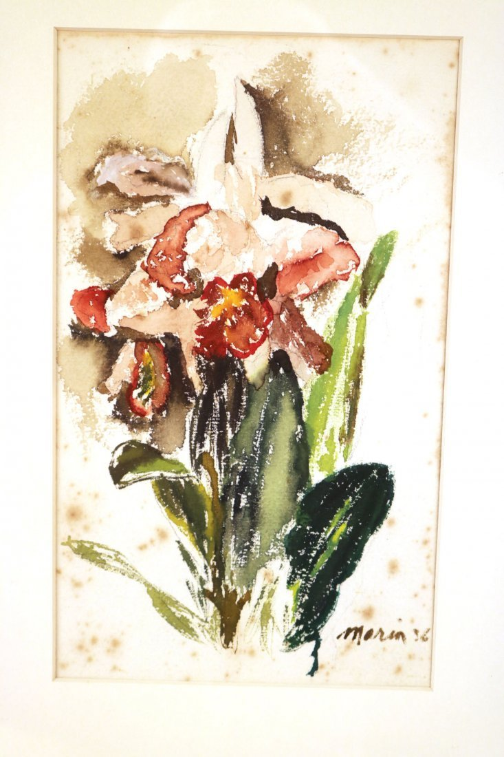 Watercolor on Paper, Floral Scene, John Marin - 2