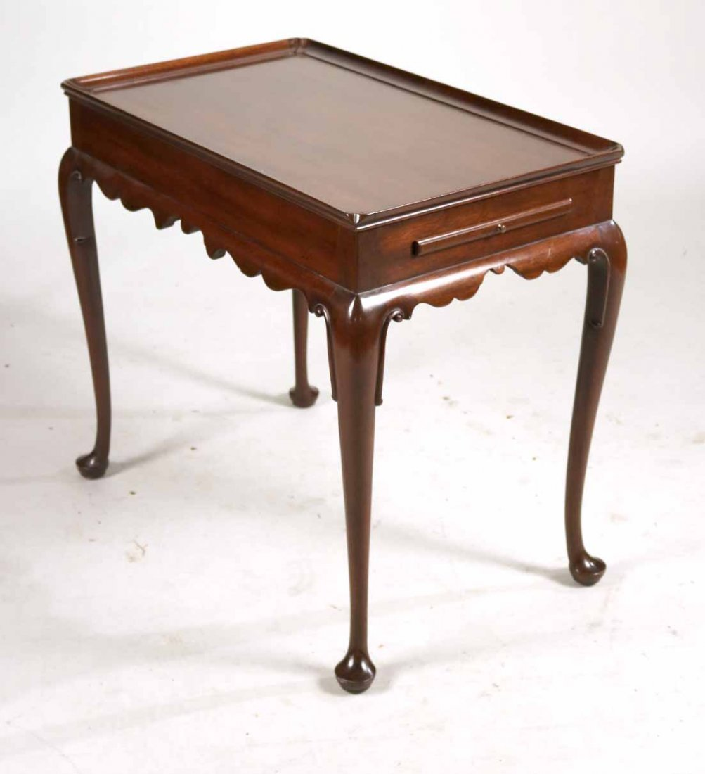 Kittinger Queen Anne Style Mahogany Tea Table