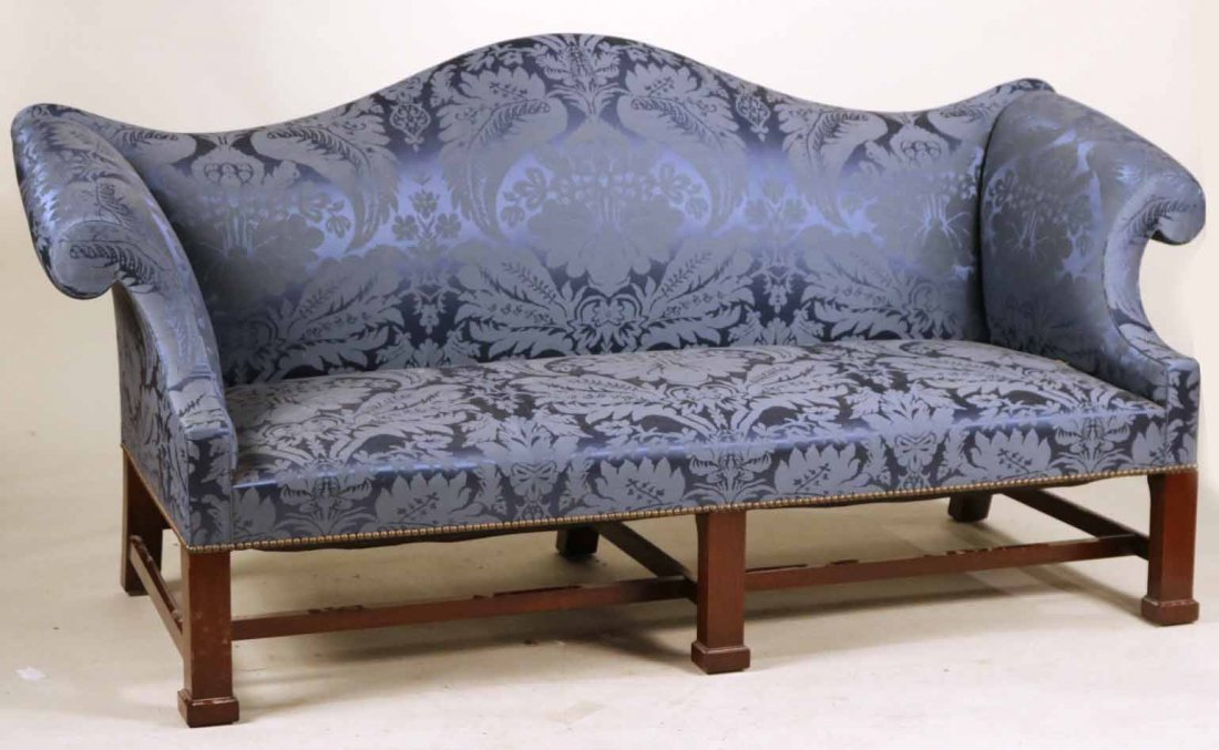 Federal Style Mahogany Camelback Sofa