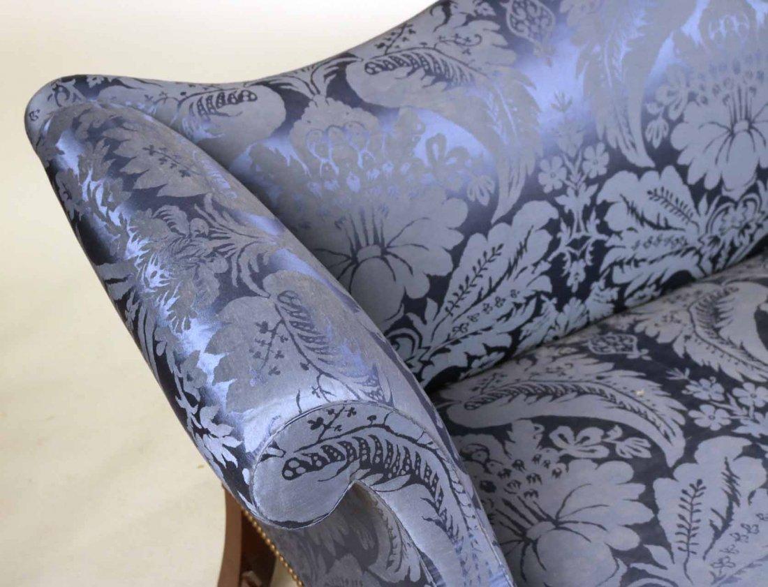 Federal Style Mahogany Camelback Sofa - 3