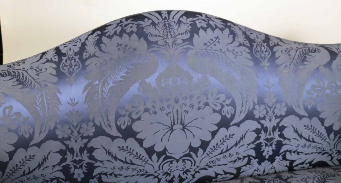 Federal Style Mahogany Camelback Sofa - 4